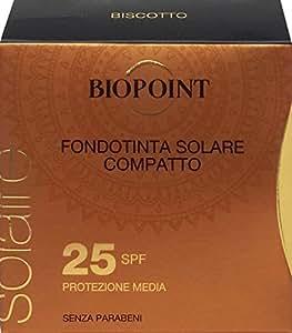 BIOPOINT Fondotinta Solare Compatto Spf 25 Biscotto 6,5 Ml 65 GL