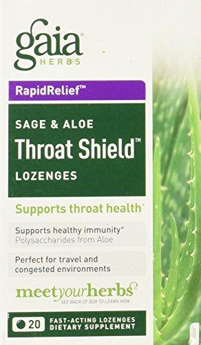 Gaia Herbs Throat Shield, 20 Lozenges [Health and Beauty] -