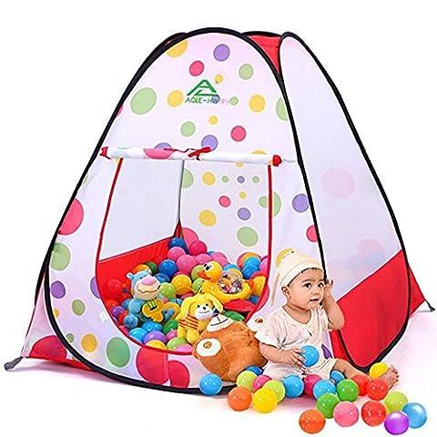 TOPFIRE Kinderspielzelt Babyzelt Beweglicher Folding Kind Bällebad Play Tent Pop Up (Baby Spiel Zelt)