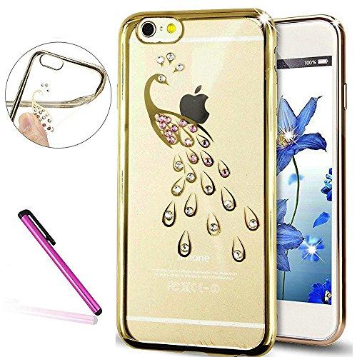 iPhone 6S Plus Hülle Silikon,iPhone 6 Plus Hülle Glitzer,iPhone 6S Plus Rosa Gold Mirror TPU Bumper Case Soft Silikon Gel Schutzhülle Hülle für iPhone 6 Plus 5.5 Zoll,EMAXELERS iPhone 6S Plus weiche S C TPU 16