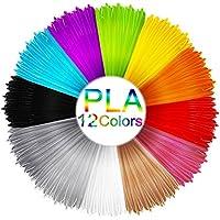 3D Filament , Mixigoo 3D Printer Filament PLA 3D Penna Filamento 1.75mm 12 Colori 3D Print Material per 3D Printer & 3D Pen Refill 3D Materiale