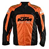 KTM Racing Riding Jacket, Orange with Black (L)