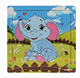 Puzzle de Madera, Holacha Jigsaw de Animales Juguetes Educativos - útil para el desarrollo de la imaginación y el reconocimiento de color y forma para bebe niños Regalo (Elefante)