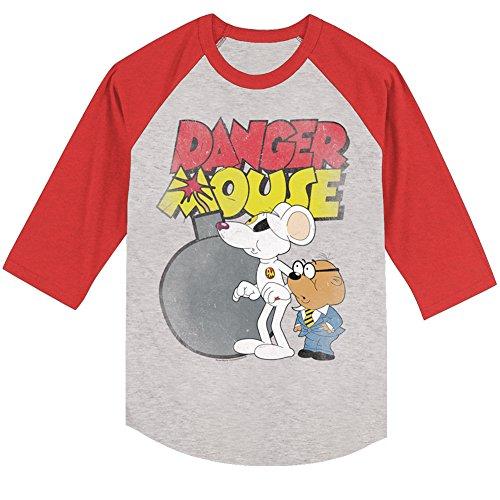 Danger Mouse - Herren Danger Bomb Raglan Concrete/Cherry