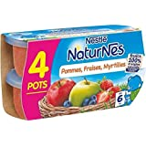 Nestlé naturnes compote de pomme fraises myrtilles 4 x 130g dès 6 mois - ( Prix Unitaire ) - Envoi Rapide Et Soignée