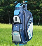 TTD TIANTIANDA Golftasche mit 10 Taschen, 10 Pocket, blau, Large