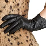 Nappaglo Damen Leather Handschuhe Italian Touchscreen Winter warm Kaschmir Handschuhe