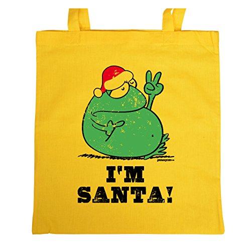X-Mas Tasche <-> I`m Santa! <-> kleines Präsent zu Weihnachten, Goodman Design® Gelb - Santas Oldtimer