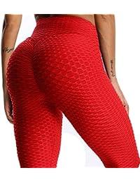FITTOO Mallas Pantalones Deportivos Leggings Mujer Yoga de Alta Cintura  Elásticos y Transpirables para Yoga Running 12fe65f1a794