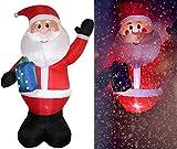 Tronje XXL LED Papá Noel inflable 300cm X-Mas Santa Navidad Claus Nicolás Turbina interior y exterior
