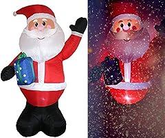 Idea Regalo - Tronje XXL LED Babbo Natale gonfiabile 300cm X-Mas Santa Claus Nikolaus Ventola permanente Esterni