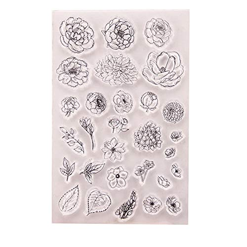 DIY Blumen Blätter Muttertag Gummi Clear Stempel Scrapbook Fotoalbum Dekorative Karten machen klare Stempel - Hibiskus-blumen Papier