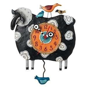 Allen Designs Black Sheep Wall Clock