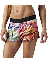 Reebok B45938, Pantalones Cortos Para Mujer, Multicolor (Kiwi Green/Blu), X-Small
