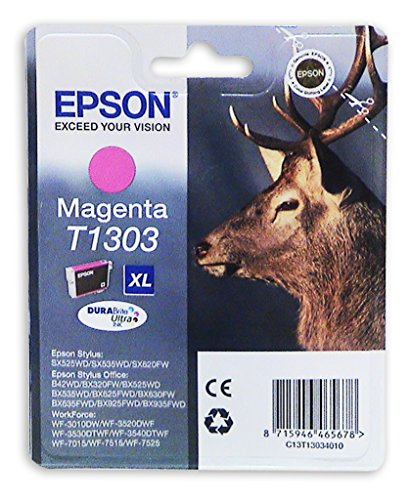 Preisvergleich Produktbild Original Tinte Epson T1303 , T13034010 3034010 , C13T13034010 , T130340 - Premium Drucker-Patrone - Magenta - 580 Seiten - 10,1 ml