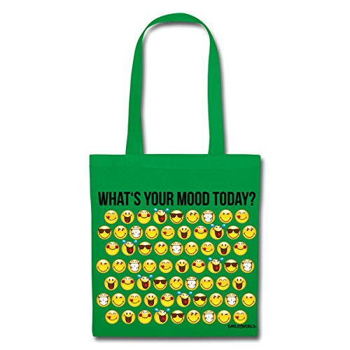 Spreadshirt Smiley World Smileys What's Your Mood Today Stoffbeutel Kelly Green