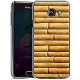Samsung Galaxy A3 (2016) Housse Étui Protection Coque Natte en bambou Tuyaux en bambou Look motif