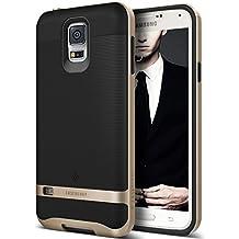 Funda Galaxy S5, Caseology® [Serie Wavelength] Duradero Antideslizante Gota de Protección [Negro / Oro] para Samsung Galaxy S5 (2014) - Negro / Oro