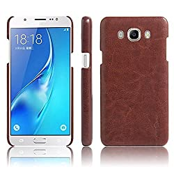 Octer Cover For Samsung Galaxy J2 (2016) Leather Back Cover (Brown)