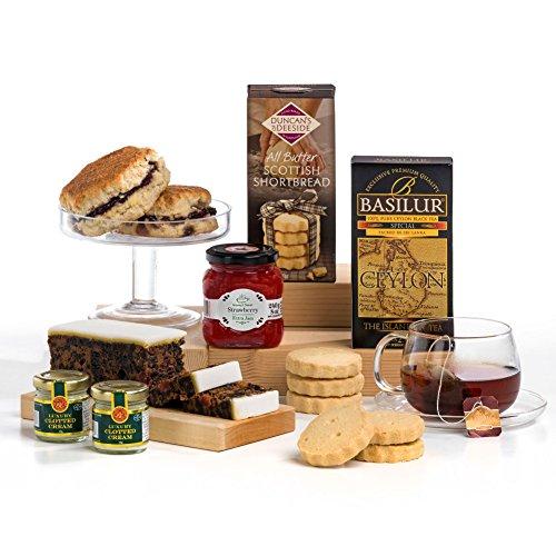 Luxury Afternoon Cream Tea, Scones & Jam Hamper Gift Box - FREE UK Delivery