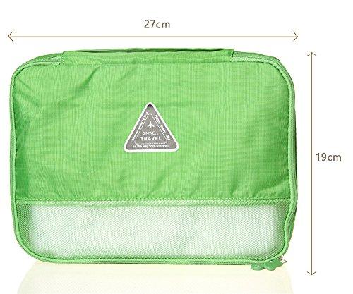 Lot 4Pcs Reisetasche Gepäckaufbewahrung Organisator-Beutel-Verpackung Würfel Verpackung Würfel-Kasten für Raumersparnis -Beutel-Kleid Unterwäsche Tasche, Top Travel Assistant