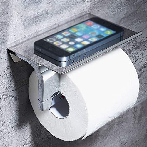 BAIF Toilettenpapierhalter, Einfache Edelstahl Papierhandtuchhalter Bad Kreative Telefonständer Toilettenpapierständer