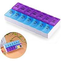 Winbang 7 Tage Pill Box, 14 Slots Weekly Medizin-Organisator-Speicher Spender Multifunktionsaufbewahrungskoffer preisvergleich bei billige-tabletten.eu