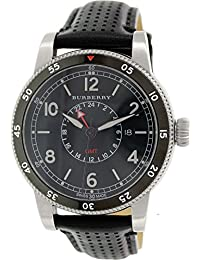 BURBERRY BU7854 - Reloj para hombres, correa de cuero color negro