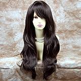 Wunderschöne Extra Lang Gewellt Light Blonde Damen Perücken mit Kopfhaut Faux Perücke