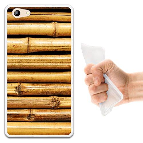 WoowCase Doogee Y300 Hülle, Handyhülle Silikon für [ Doogee Y300 ] Bambusholz Handytasche Handy Cover Case Schutzhülle Flexible TPU - Transparent