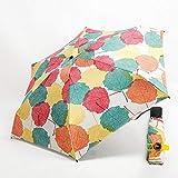 YUYUPDT Ombrello Creativo Super Leggero Facile da trasportare Ombrello da Tasca Mini Uomo 5 Volte 229g Ombrello da Viaggio Pioggia/Sole Donna BambiniOmbrellone, Foglia d'Acero