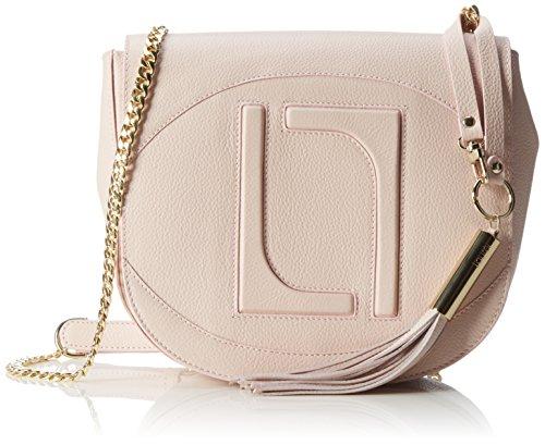 Laurèl Damen Tasche Schultertaschen, (pink 680), 23x20x7 cm - Laurel Leder
