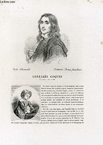 Biographie de Gonzalès Coques (1614-1684) ; Ecole Flamande ; Portraits, Scènes familières ; Extrait du Tome 7 de l'Histoire des peintres de toutes les écoles.