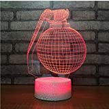 DDBBhome Crack Base Blanche Boogie Bomb Nouveau 3D LED Lampe Bureau Bataille Royale...