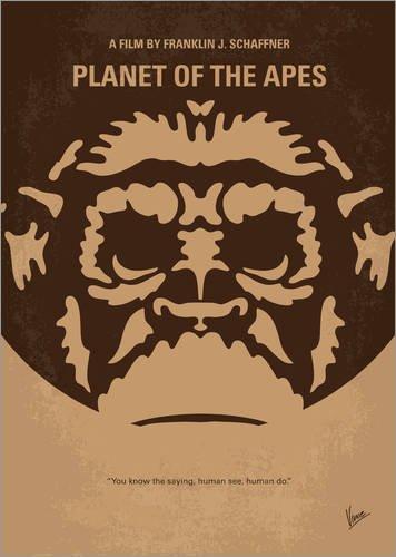 ALU Dibond 90 x 130 cm: No270 My Planet of The Apes Minimal Movie Poster de chungkong