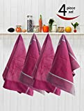 Avira Home Royal Classic Large Kitchen Towels With Hanging Loop, Pack Of 4, (Multicolor)