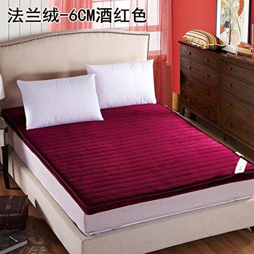 JL&LU Verdicken Tatami Matratze,Faltbare Doppel Streifen Pad-Matratze Schlafen Schwamm-pad 1.5 1.8m-B 180x200cm(71x79inch) -
