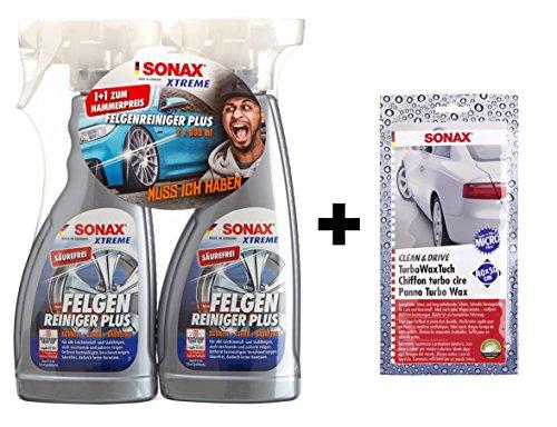 Preisvergleich Produktbild SONAX XTREME 2x 750ml Felgenreiniger Plus + Wachstuch Set