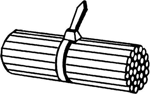 HELLA 8HL 717 962-011 Kabelbinder, Länge 145 mm Breite 3.5 mm, Schwarz
