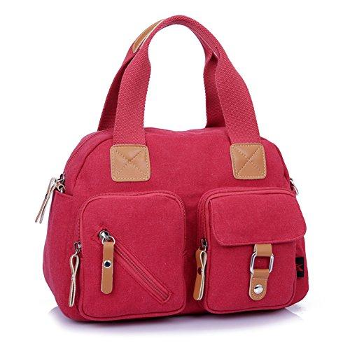Ladies singola borsa a tracolla,borsa di tela,portatile/messenger bag-Blu Rosso