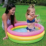 Intex Aaina - Soft Inflatable Baby Pool Bath Water Tub for Kids, 2 ft (Multicolour)