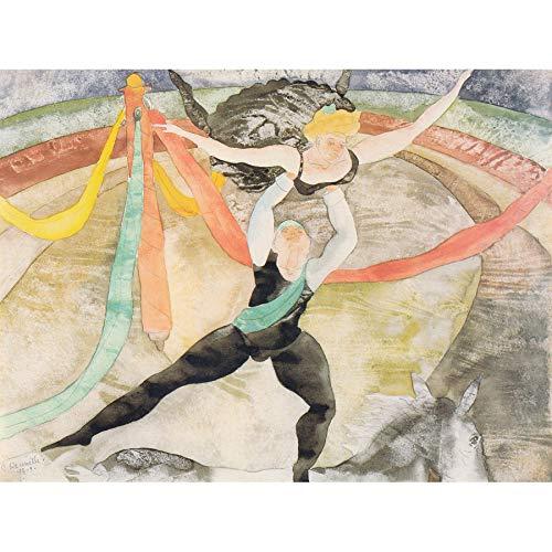 Demuth Circus Acrobats Painting Art Print Canvas Premium Wall Decor Poster Mural Zirkus Malerei Wand Deko -