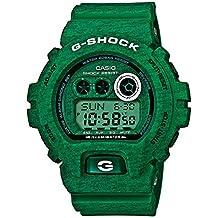 Reloj cuarzo Casio Para Hombre Con  Verde Digital Y Verde Resina GD-X6900HT-3ER