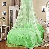 Bluelans® Baldachin Moskitonetz Insektenschutz Fliegennetz Mückennetz für Doppelbetten und Einzelbetten (Grün)
