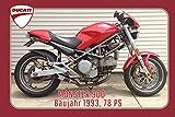 Schatzmix Ducati Monster 900 1993 78PS Motorrad, Motor Bike, Motorcycle blechschild
