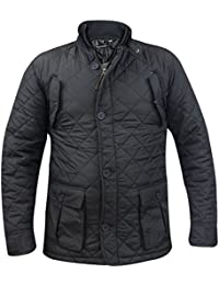 New Mens Soulstar matelassé hiver Padded Collar Jacket Zip Up Manteau manches pleine