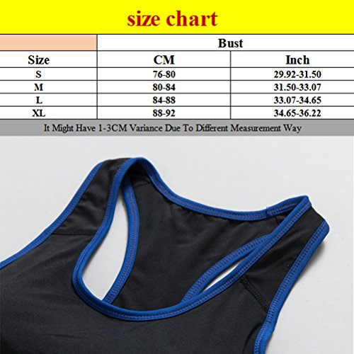 Zhhlaixing Womens Running Fitness Stretch Workout Yoga Tank Tops Sport Bra 5007 Black&Rose red