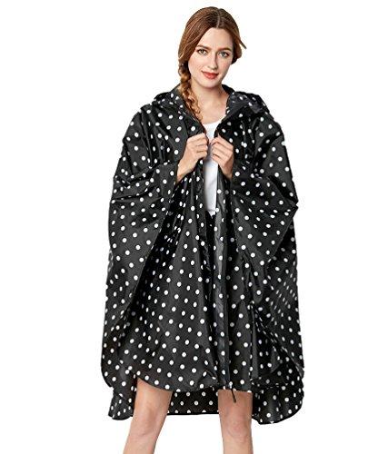 Cayuan donna impermeabili poncho con cappuccio sciolto giacca a da pioggia peso leggero impermeabile mantella all'aperto