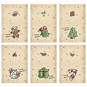 MHwan postales para navidad, tarjeta