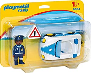 Playmobil- 1.2.3 Coche de Policía Juguete, (geobra Brandstätter 9384)